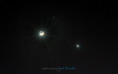 Moon, Venus, and Mars Conjunction