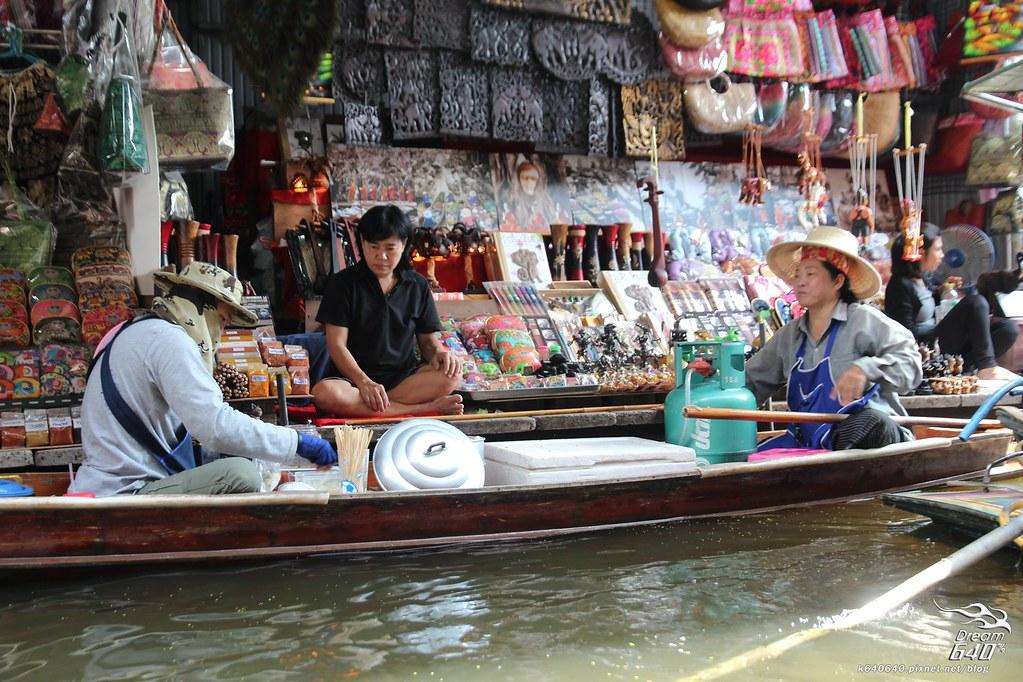 泰國曼谷-水上市場+美功鐵道市集+河濱夜市-52