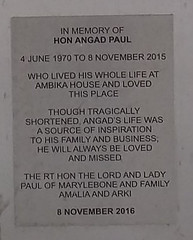 Photo of Angad Paul brushed metal plaque