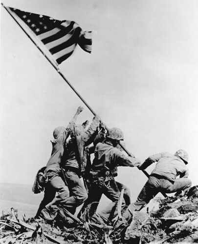 Flagraisers on Iwo Jima