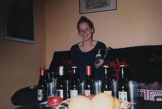 Miriam tasting beer