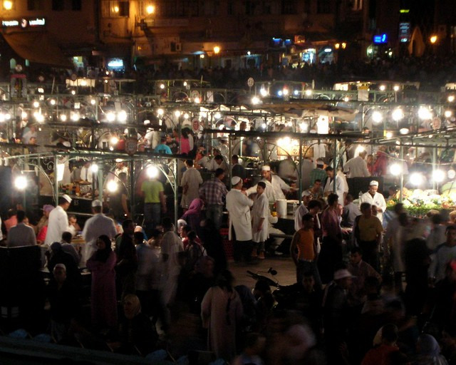 Djemaa el-Fna - Food Stalls Close-Up