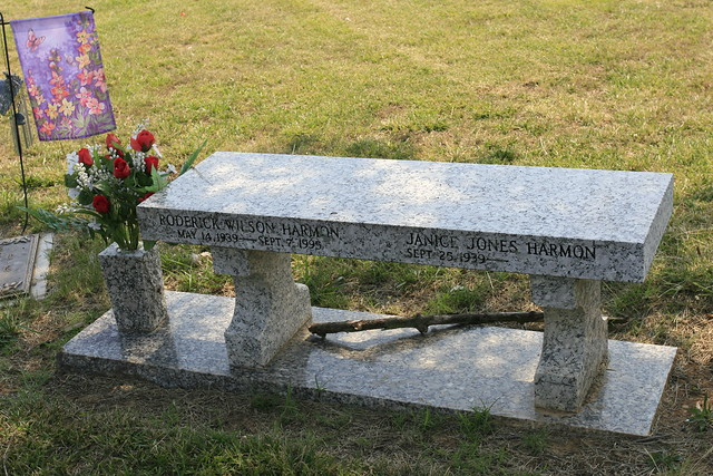 Bench As A Headstone Flickr Photo Sharing