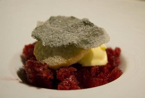 Pre-Dessert: Blackberry Syrah Granita