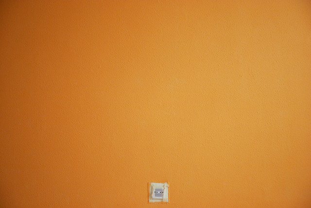 Pared naranja