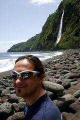 sean on the beach in waipio valley    MG 6119