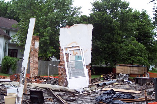 Demolished house in Marshall, 20050703