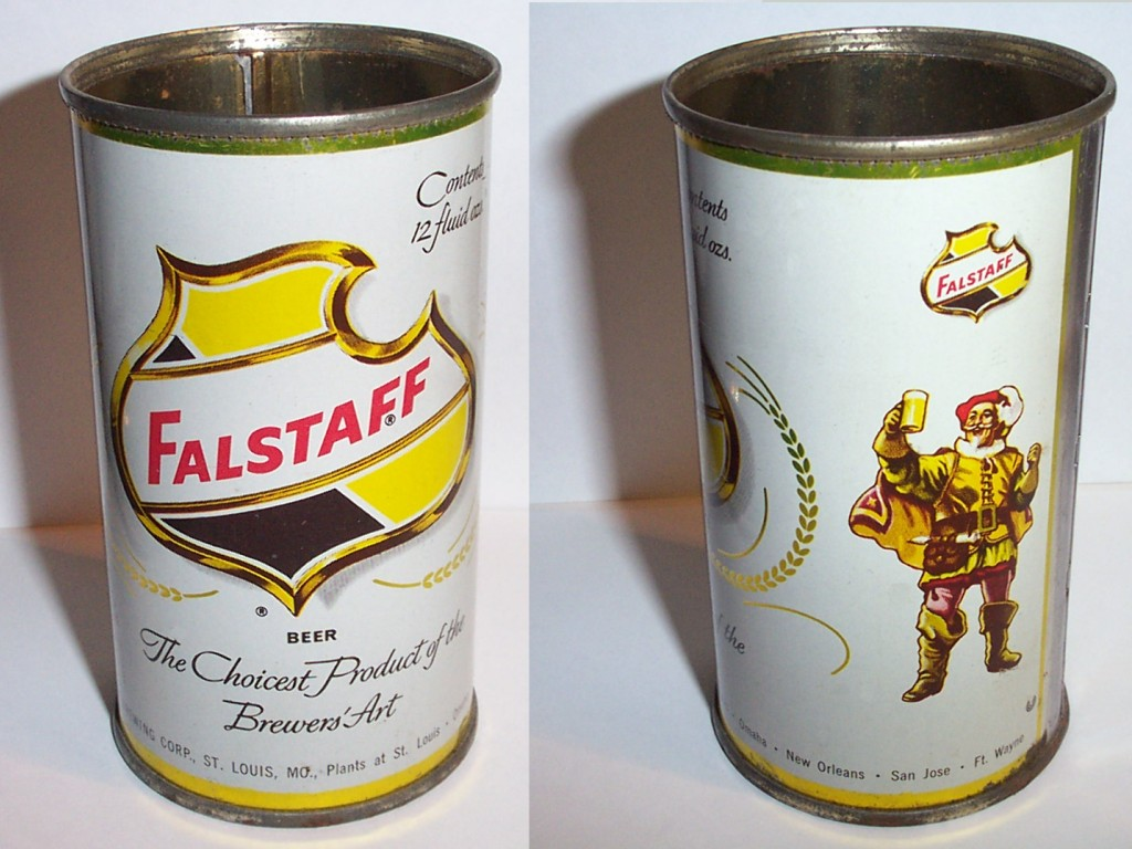 Vintage Falstaff Beer Can - Classic Shield & Sir Falstaff ...