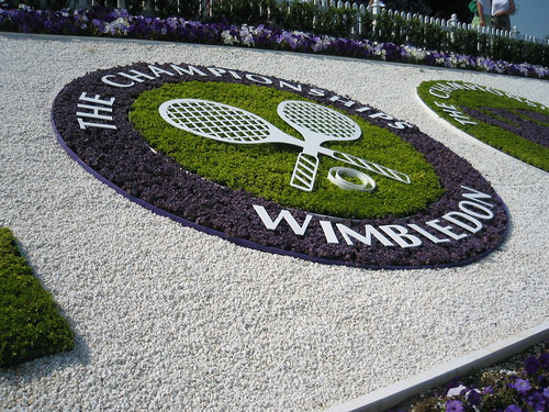Wimbledon - Logo in flowers