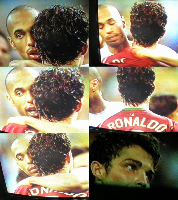 Henry et C Ronaldo post match