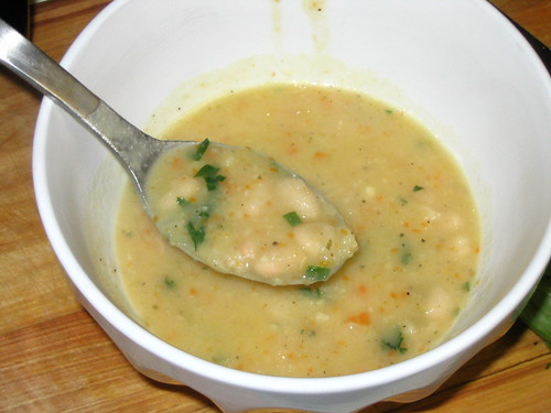 White bean soup.