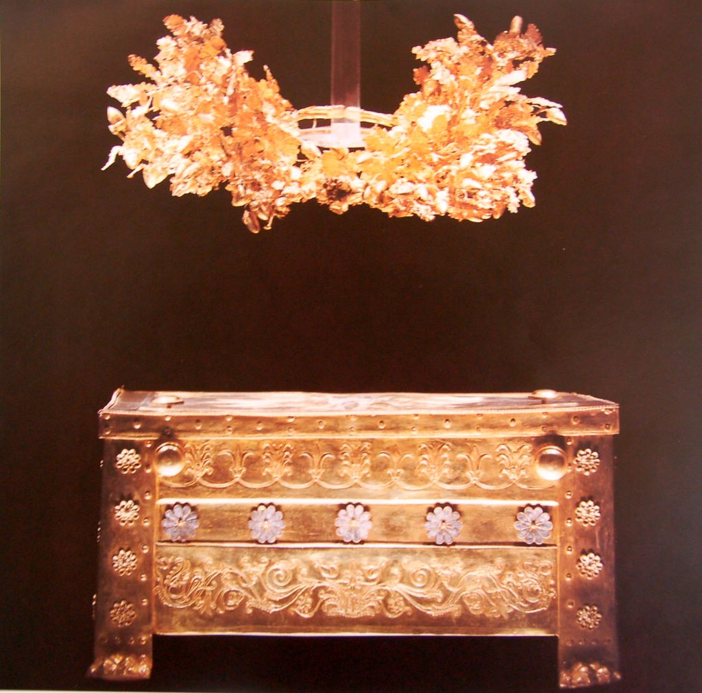 Golden Casket and Wreath
