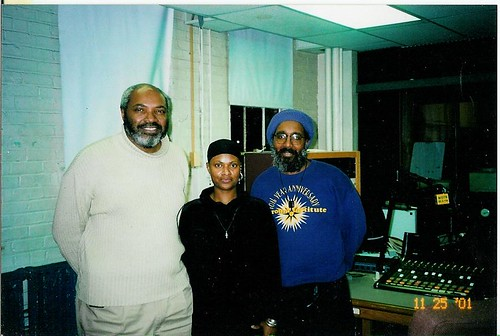 Open Forum Co-Hosts (left to right), Abayomi Azikiwe, PANW Editor, Titilayo Akanke & Malik Yakini. Photo taken at WDTR, 90.9 FM in Detroit (Nov. 25,  2001) by panafnewswire