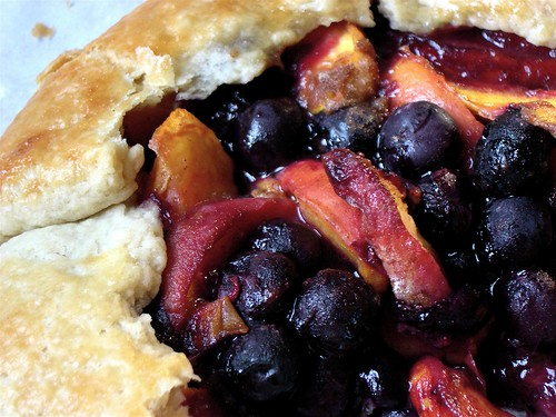 Peach and Blueberry Rustic Tart