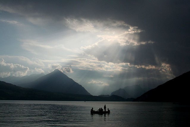 Stormy Lake Thun