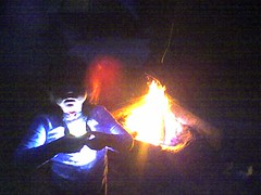 poi(0.0), performance art(0.0), fire(1.0), darkness(1.0), campfire(1.0), bonfire(1.0),