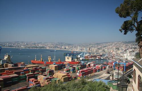 Valparaiso's Port and cityscape