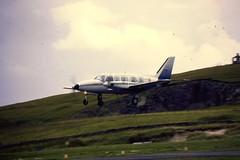 Air Charter Scotland Piper 31 Navajo at LSI