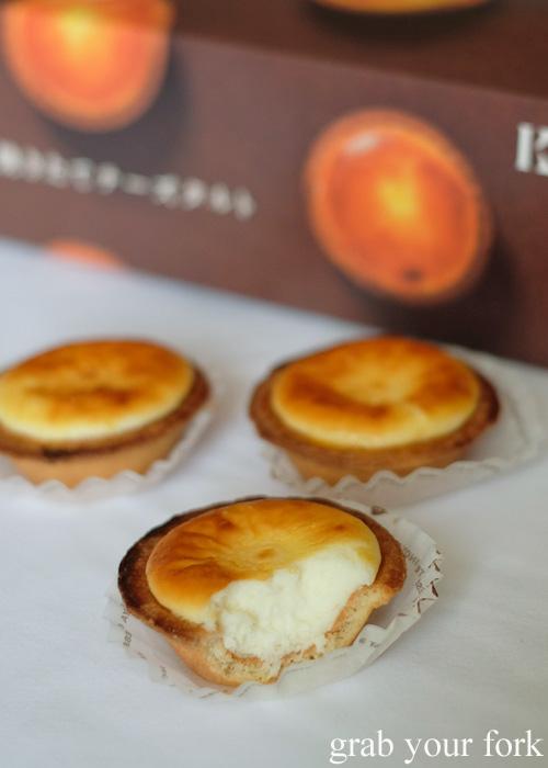 Fluffy cheesecake inside the Kinotoya Bake cheese tart