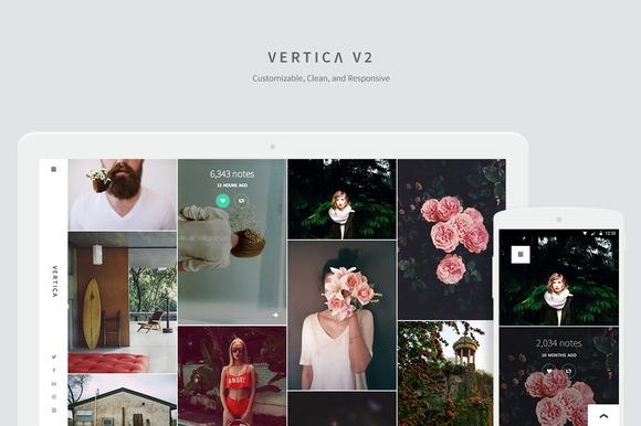 CreativeMarket Vertica v2.0 Tumblr Theme