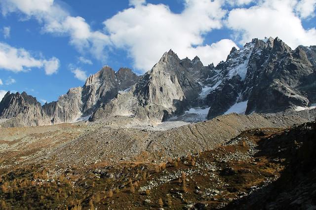 base of Aiguilles de Chamonix.