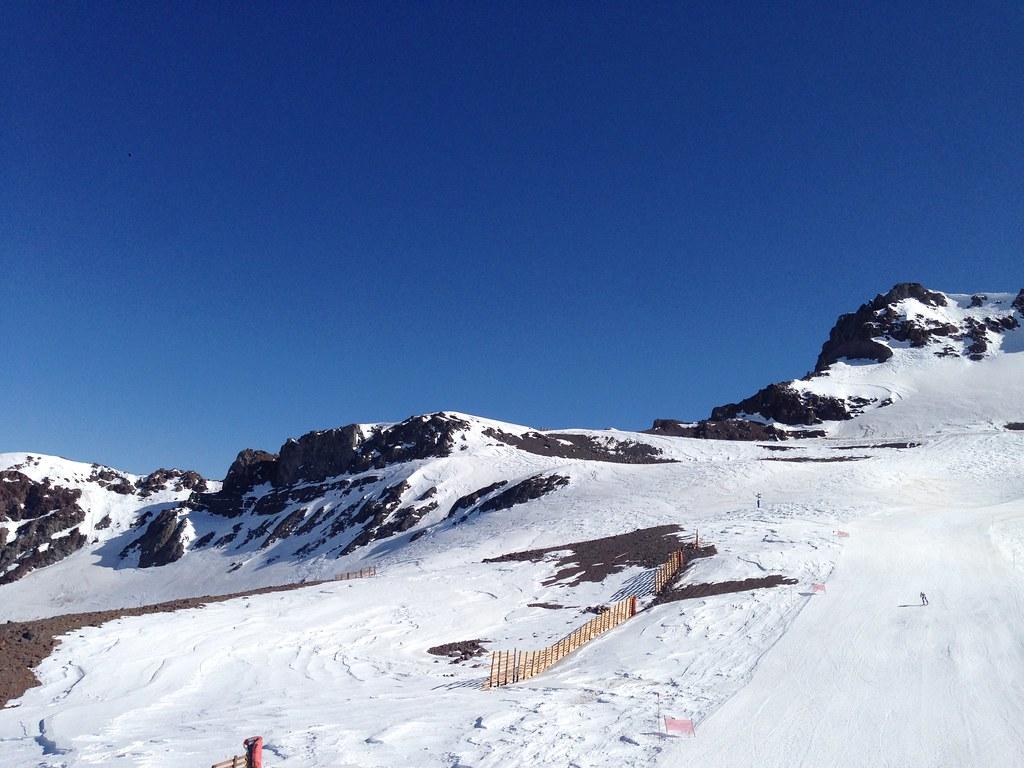 Ski racers at El Descenso