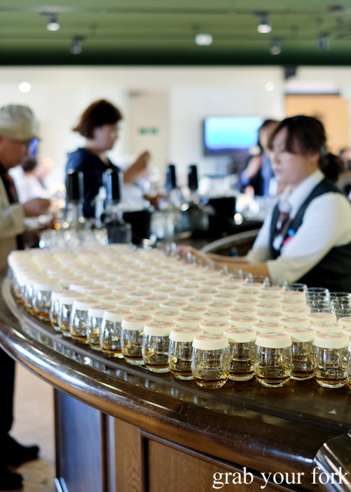 Free whisky samples at Nikka Whisky Distillery