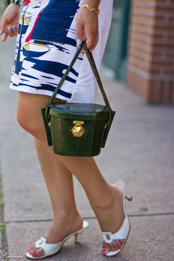 sailboat dress, ferragamo sandals, green snakeskin bag-5.jpg