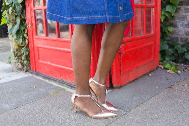 Boden Beatrice rose gold mid heel