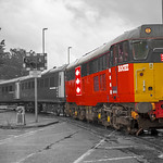 Class 31465 Roche Freight Revised at Preston Dock Strand Road Level Crossing. 01.08.2014.jpg