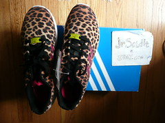 Adidas ZX FLUX women LEOPARD PRINT (SIZE 8.5) M21365 (2014)
