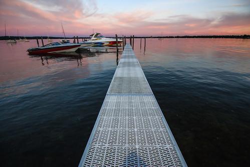 sunset boats outdoor michigan lakemichigan deck traversecity scenicmichigan puremichigan