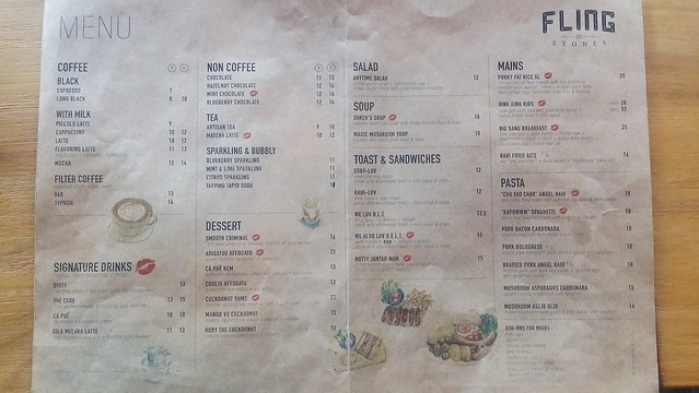 10. Flingstones cafe menu