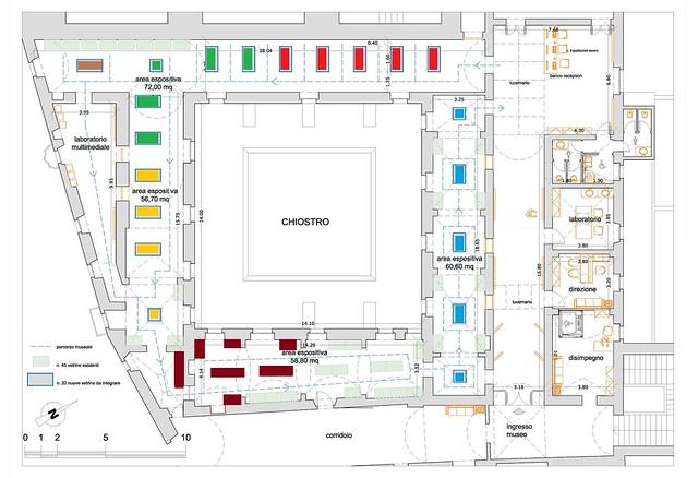 Rutigliano- Planimetria Museo con aree tematiche