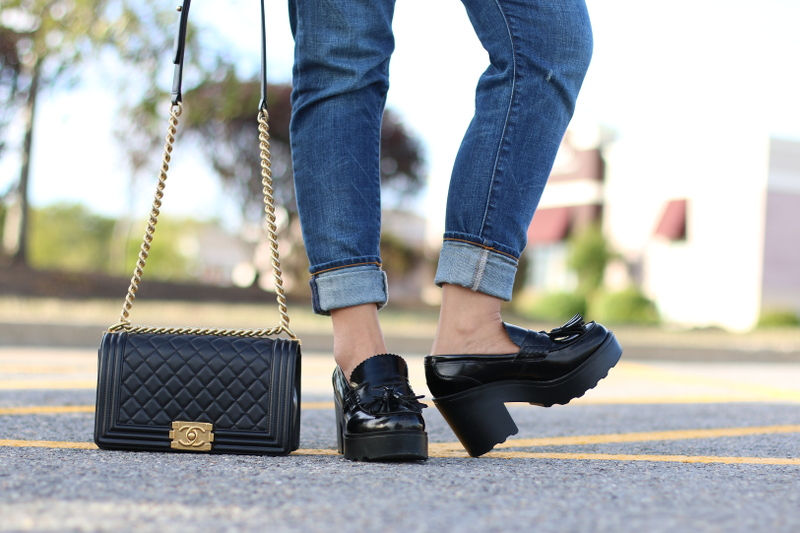 Chanel-boy-bag-Mossimo-loafers-jeans-3