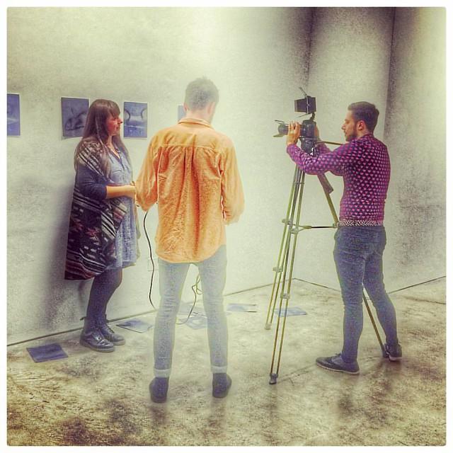 Shooting at Stills - Opening of Jill Todd Photographic Award Exhibition #stillsedinburgh