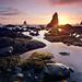 Tidepools at Sunset by AlexBurke