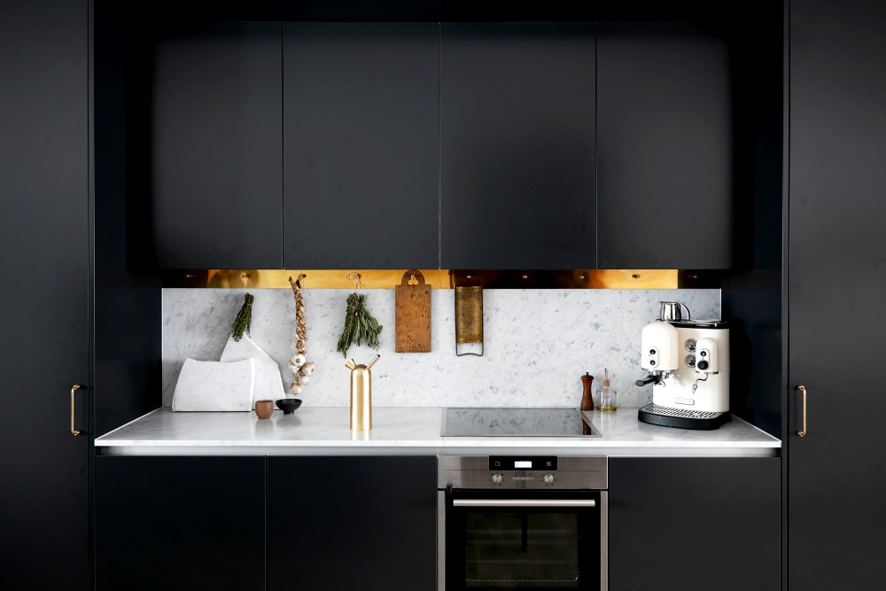 Lovely Scandinavian Home with Black Kitchen Design Inspiration