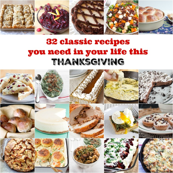 32 classic recipes you need in your life this Thanksgiving