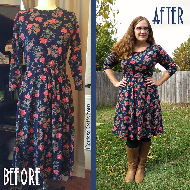 Fall Flowers Dress - Before & After