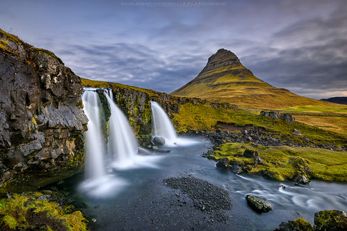 longexposure travel blue mountain cold green water clouds sunrise landscape flow waterfall iceland kirkjufell snæfellsnes 1635 niceland d810 cresende