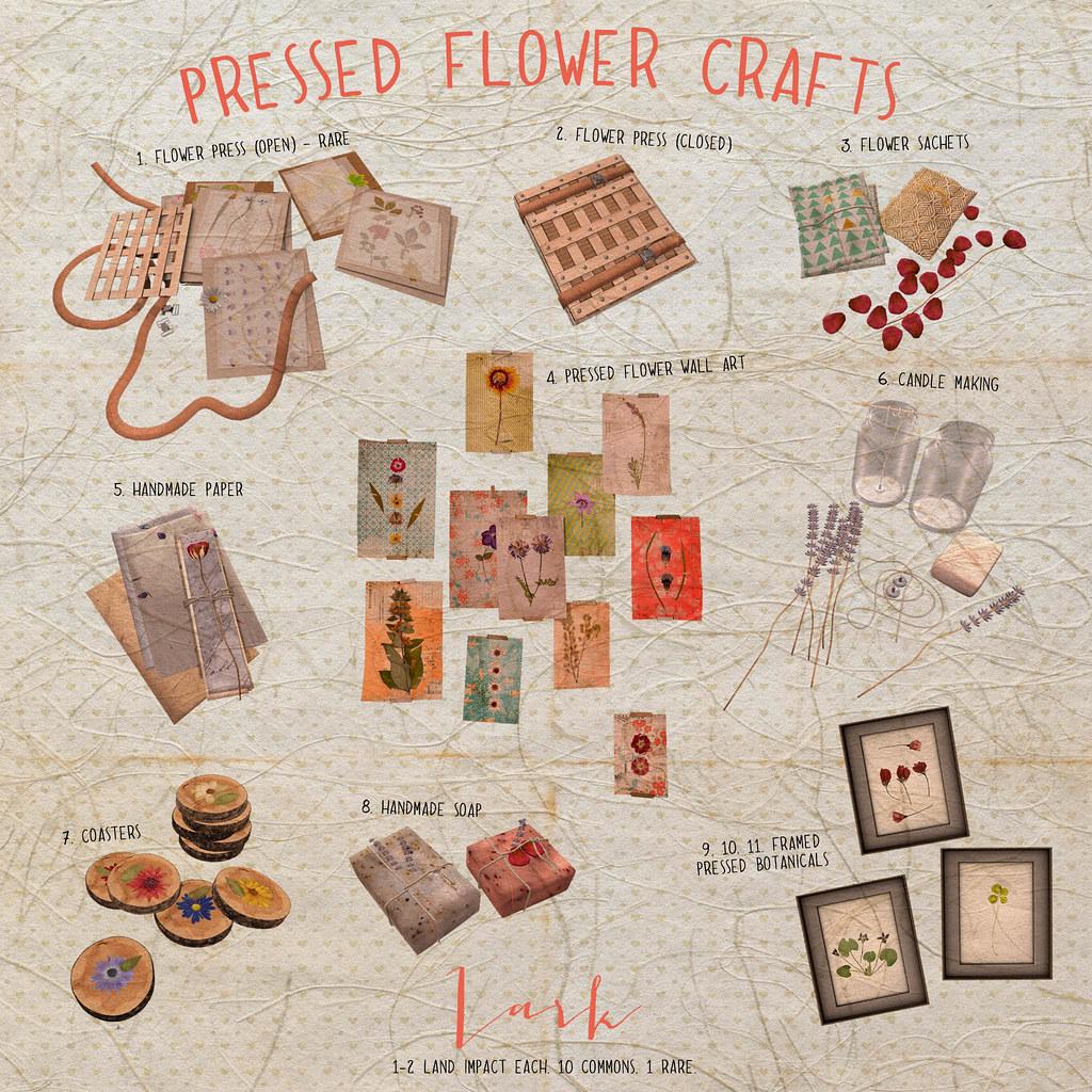 Lark - Pressed Flower Crafts