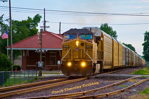 railroad sub rail mo missouri unionpacific mopac generalelectric subdivision railfanning autoracks hoxie ac44cw