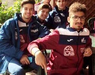 """Rutigliano-I gemelli """"Derrick"""" della Rinascita Rutiglianese-In primo piano Gabry e Mirko Ferro"""