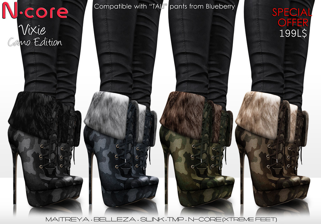 "N-core Special Offer! VIXIE ""Camo"" - SecondLifeHub.com"