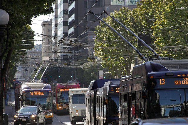 Trolleybuses on 3rd Avenue