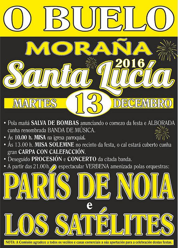 Moraña 2016 - O Buelo- Festas de Santa Lucía - cartel
