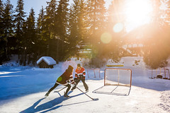 Pond hockey on Green Lake.