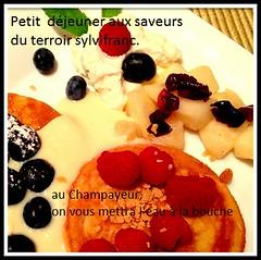 Petit déjeuner au gîte du Champayeur.