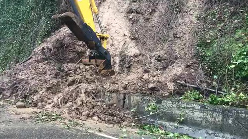 Cleaning the slide on U.S. 26